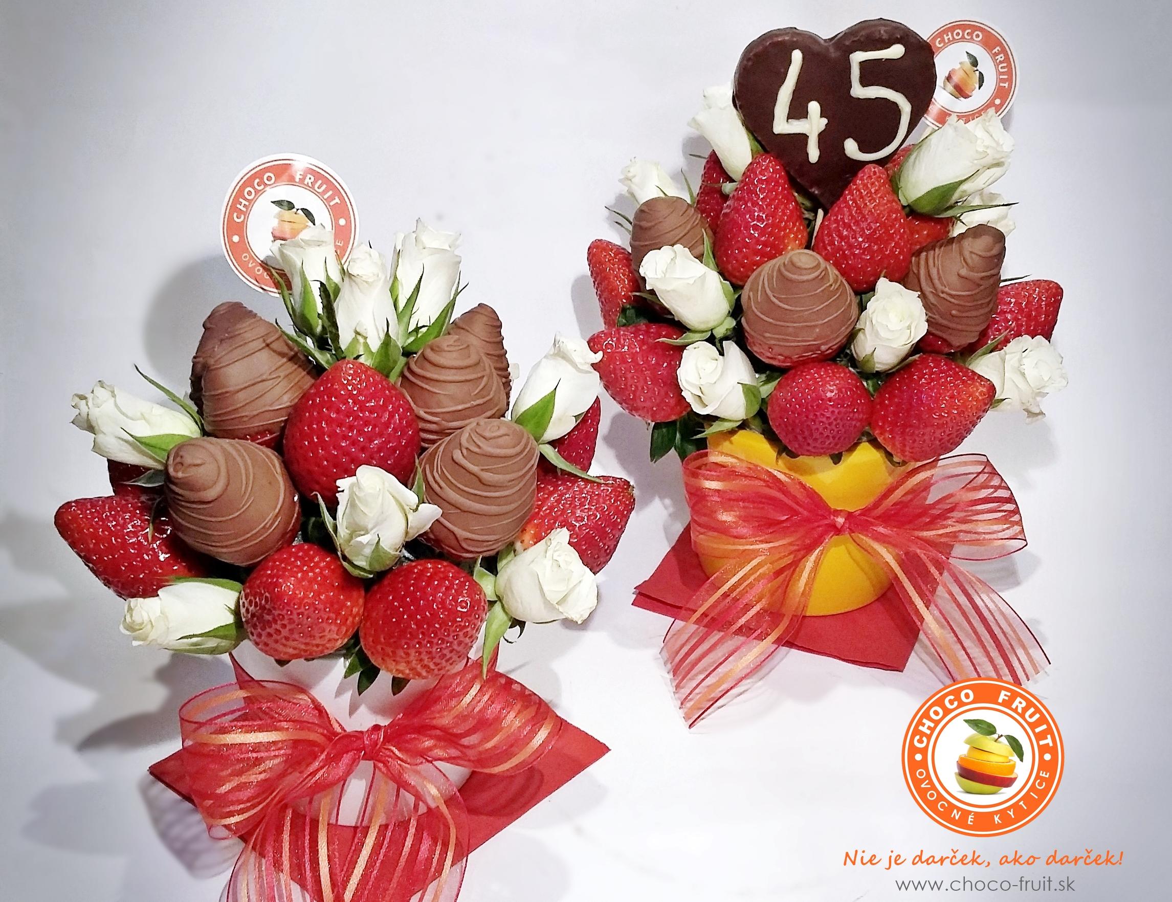 4a7e1a236 Venovanie z ovocia a čokolády - Ovocné kytice
